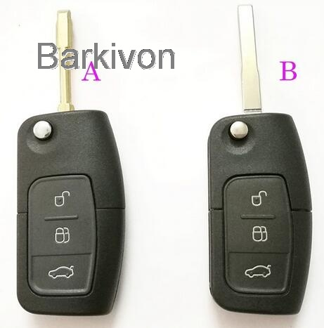 Replacement Remote Key Fob Case For Ford Mondeo Fiesta Focus 3 On Flip Shell